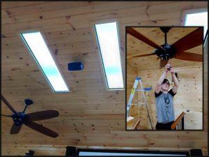 Interior lighing installation and upgrade
